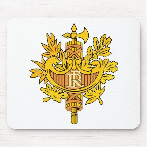 France National Emblem Mousepad