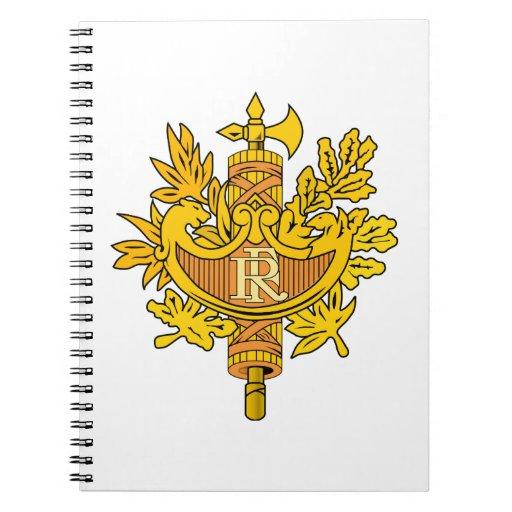France National Emblem Spiral Notebooks