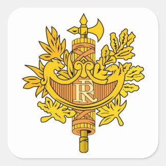 France National Emblem Square Sticker