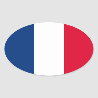 France National Flag Oval Sticker