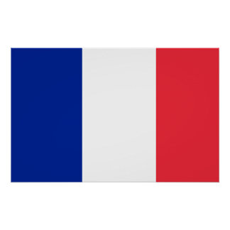 France National World Flag Poster