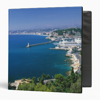 France Nice aerial view of the port Vinyl Binders