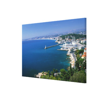 France Nice aerial view of the port Gallery Wrap Canvas