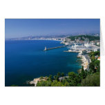 France, Nice, aerial view of the port Greeting Card