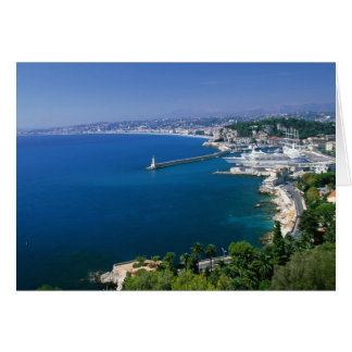 France Nice aerial view of the port Greeting Card