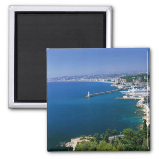 France, Nice, aerial view of the port Fridge Magnet