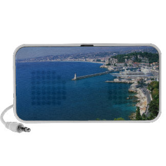 France, Nice, aerial view of the port Mini Speakers