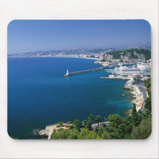 France Nice aerial view of the port Mousepad