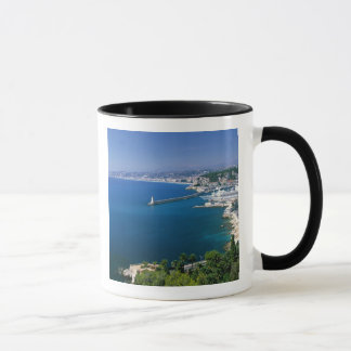 France, Nice, aerial view of the port Mug