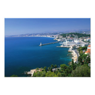 France Nice aerial view of the port Photographic Print
