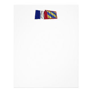 France & Nièvre waving flags Letterhead