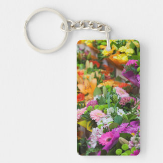 France, Nord, French Flanders, Lille, Wazemmes Double-Sided Rectangular Acrylic Keychain
