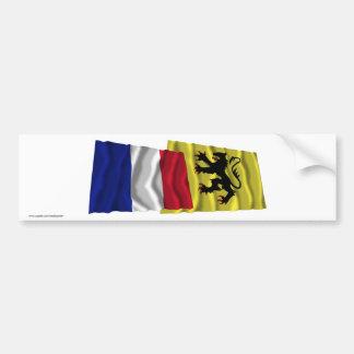 France & Nord waving flags Bumper Sticker
