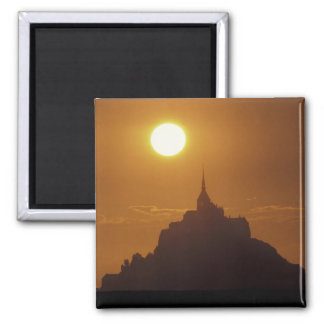 France, Normandy. Mont Saint Michele 2 Inch Square Magnet