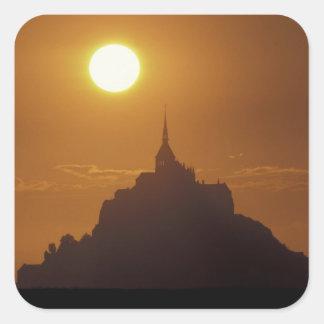 France, Normandy. Mont Saint Michele Square Sticker