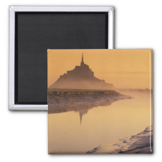 FRANCE, Normandy Mont St. Michel. Morning Light Fridge Magnet