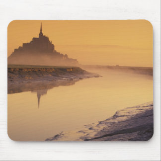 FRANCE, Normandy Mont St. Michel. Morning Light Mouse Pad