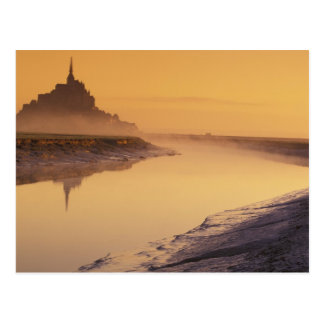 FRANCE, Normandy Mont St. Michel. Morning Light Post Cards