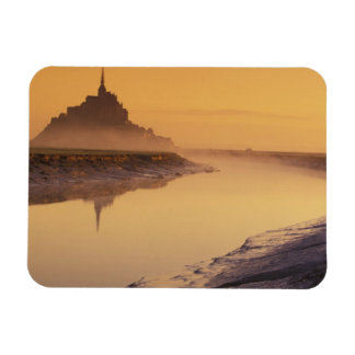 FRANCE, Normandy Mont St. Michel. Morning Light Magnets