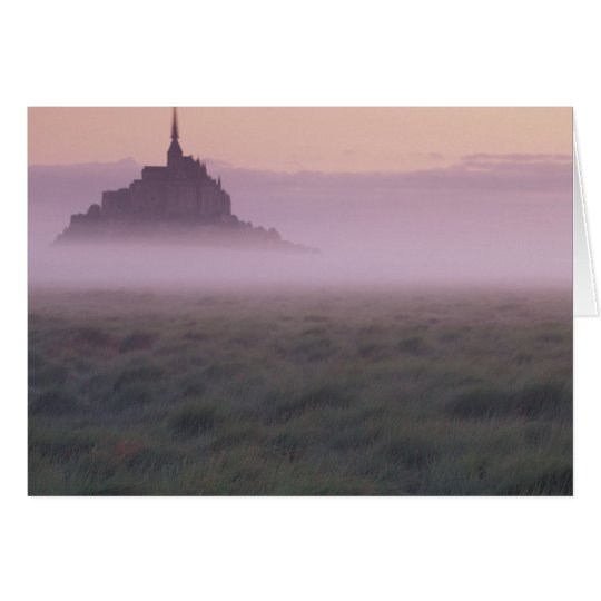 FRANCE, Normandy Mont St. Michel. Morning Mist Card