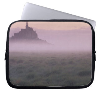 FRANCE, Normandy Mont St. Michel. Morning Mist Laptop Sleeve