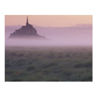 FRANCE, Normandy Mont St. Michel. Morning Mist Postcard