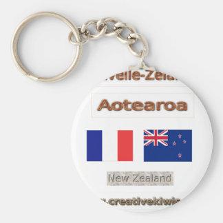 France, Nouvelle-Zélande Keychain