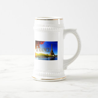 France on the Seine with Eiffel Tower Beer Stein