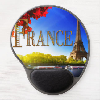 France on the Seine with Eiffel Tower Gel Mousepads