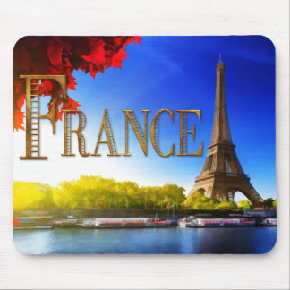 France on the Seine with Eiffel Tower Mousepad
