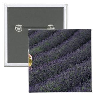 France, PACA, Alpes de Haute Provence, Woman 2 Inch Square Button