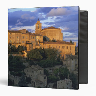 France, PACA, Vaucluse, The village in sunset 3 Ring Binders