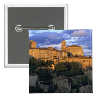 France, PACA, Vaucluse, The village in sunset 2 Inch Square Button