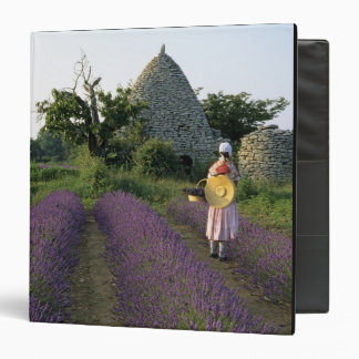 France, PACA, Vaucluse, Woman in a lavender 3 Ring Binder