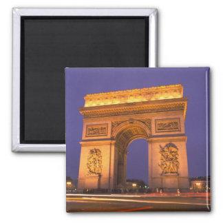 France Paris Arc de Triomphe at dusk Fridge Magnets