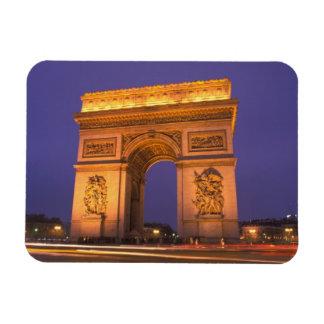 France Paris Arc de Triomphe at dusk Vinyl Magnets