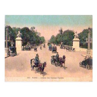 France Paris,Avenue de Champs Elysees Postcard