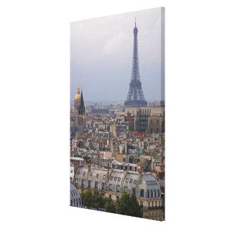 France, Paris, cityscape with Eiffel Tower Canvas Print