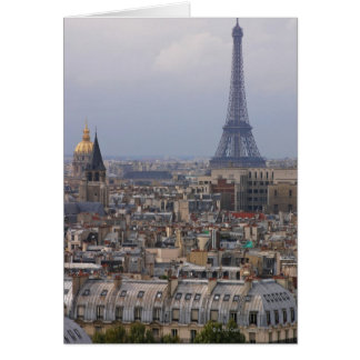 France, Paris, cityscape with Eiffel Tower Greeting Cards