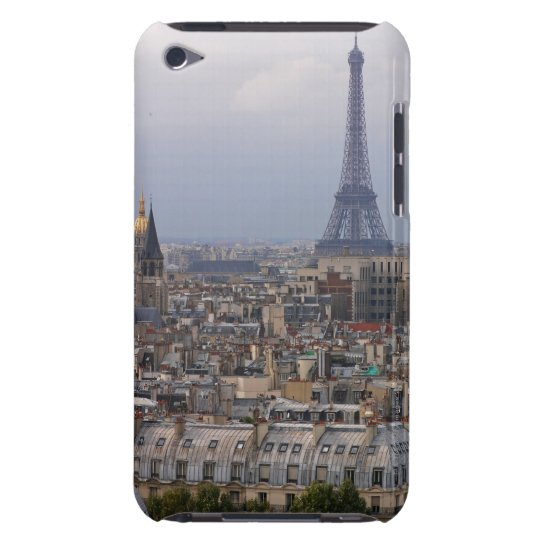 France, Paris, cityscape with Eiffel Tower iPod Case-Mate Case