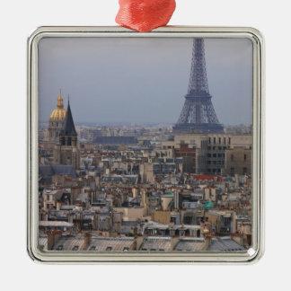 France, Paris, cityscape with Eiffel Tower Metal Ornament