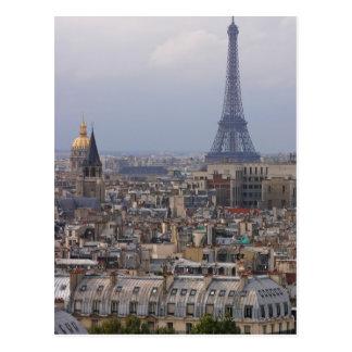 France, Paris, cityscape with Eiffel Tower Postcard