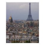 France, Paris, cityscape with Eiffel Tower Poster