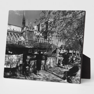 France Paris Dame Cathedral booksellers 1970 Photo Plaque