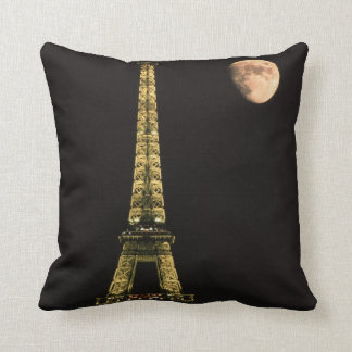 France, Paris. Eiffel Tower at night Pillow
