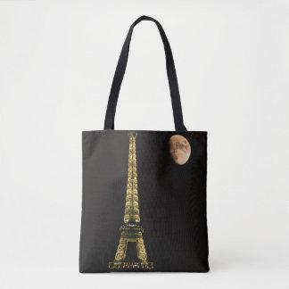 France, Paris. Eiffel Tower at night Tote Bag