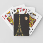 "France, Paris. Eiffel Tower at night with Playing Cards<br><div class=""desc"">France,  Paris Eiffel Tower at night with moon   Steve Satushek / Jaynes Gallery / DanitaDelimont.com</div>"