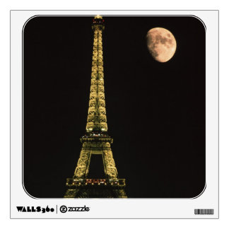 France, Paris. Eiffel Tower at night with Wall Decal