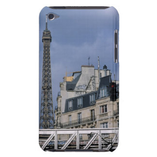 France, Paris, Eiffel Tower behind metro train Case-Mate iPod Touch Case