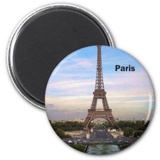 France Paris Eiffel Tower (by St.K) 2 Inch Round Magnet